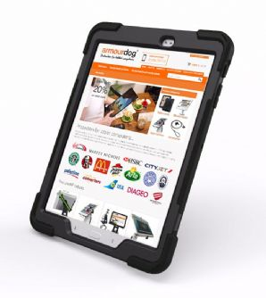 Rugged case for Samsung Tab A10.1 T580  T585  hand & shoulder strap, kick stand & screen protector